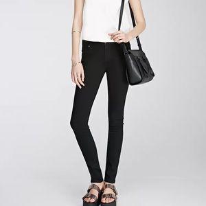 Cut off Black Skinny Jeans